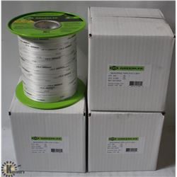 FOUR 3000' GREENLEE SPOOLS OF MEASURING TAPE