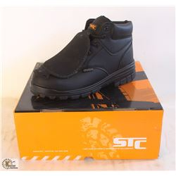 "SZ 8 MEN'S STC PRESS 6"" RISE STEEL TOE SHOES W/"