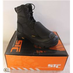 "SZ 10 MEN'S STC ALLOY 10"" RISE STEEL TOE BOOTS W/"