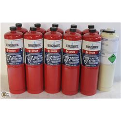 11 BOTTLES OF BERNZOMATIC DISPOSABLE OXYGEN