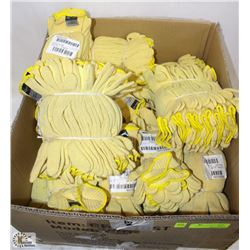 LARGE BOX OF DUPONT KEVLAR KNITTED FABRIC GLOVES