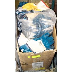 LARGE BOX OF NITRILE & RUBBER DIPPED GLOVES