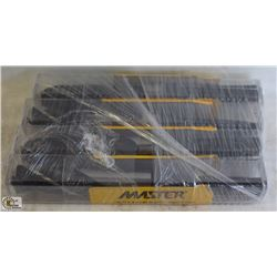 4 NEW MASTER PRENTICE BLACK OXIDE DRILL BITS