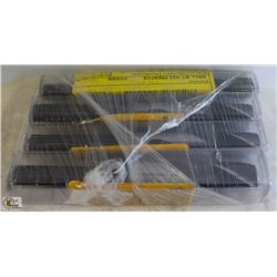 4 NEW ASSORTED SIZED MASTER PRENTICE BLACK OXIDE