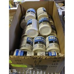 BOX OF ABS YELLOW SOLVENT CEMENT W/ DAUBER