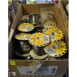 LOT OF ELECTRICAL GOODS INCLUDING: 18 AWG SPOOLS