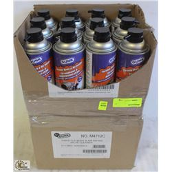2 CASES OF GUNK VALVE CLEANER-340G