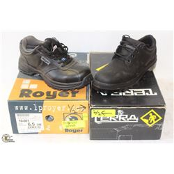 NEW ROYER MENS SAFETY WORK SHOE - SIZE 6.5 &