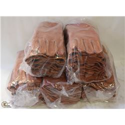 5 BUNDLES(30) OF ALL-LEATHER WELDING GLOVES-12""