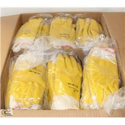 CASE OF COMMERCIAL PVC DIPPED KNIT GLOVES SZ:9
