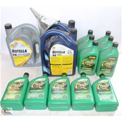 LOT W/ ASSORTED AUTOMOTIVE FLUIDS