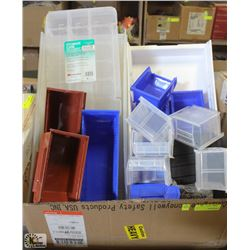 LOT OF ASSORTED AKRO-MILS ORGANIZING BINS