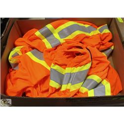 5 PAIRS OF 3XL FORCEFIELD HI-VIZ WORKSHIRTS