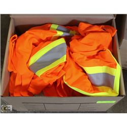 BOX OF 10 2XL FORCEFIELD HI-VIZ WORKSHIRTS