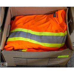 BOX OF 10 LARGE FORCEFIELD HI-VIZ WORKSHIRTS
