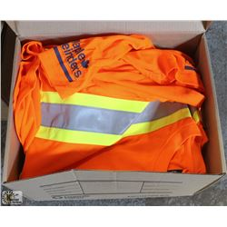 BOX OF 10 MEDIUM FORCEFIELD HI-VIZ WORKSHIRTS