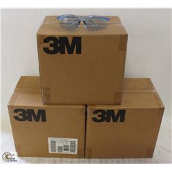 3 CASES OF 3M VIRTUA SPORT SAFETY GLASSES