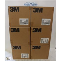 6 CASES OF 3M VIRTUA SPORT SAFETY GLASSES