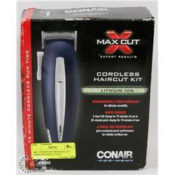 24PC CONAIR FOR MEN MAX CUT CORDLESS HAIR CUT KIT