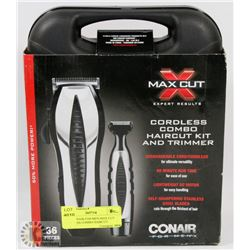 36PC CONAIR FOR MEN MAX CUT CORDLESS COMBO HAIRCUT