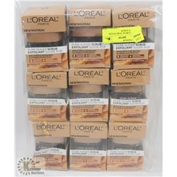 BAG OF 9 LOREAL PURE SUGAR EXFOLIANT SCRUB