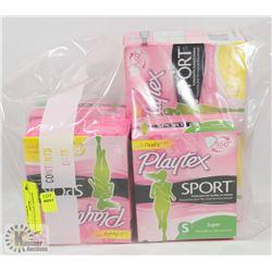 BAGS OF PLAYTEX TAMPONS