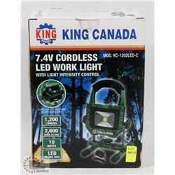 KING CANADA 7.4V CORDLESS LED WORK LIGHT