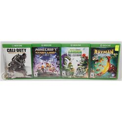 LOT OFO 4 XBOX ONE GAMES