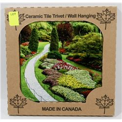 """MADE IN CANADA 6"""" X 6"""" CERAMIC TILE/ WALL HANGING"""