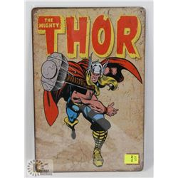 "NEW! 8"" X 12"" THOR METAL SIGN"