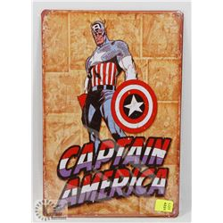 "NEW! 8"" X 12"" CAPTAIN AMERICA METAL SIGN"