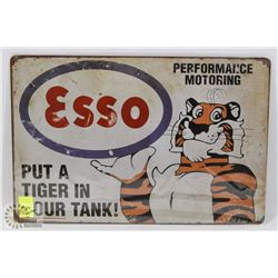 "NEW! 8"" X 12"" ESSO METAL SIGN"
