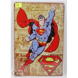 "NEW! 8"" X 12"" SUPERMAN METAL SIGN"