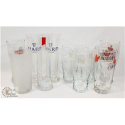 ASSORTED BEER GLASSES- GUINNESS, MOLSON