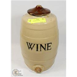 ANTIQUE WINE CROCK.
