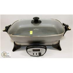 RIVAL LIDDED DEEP ELECTRIC FRYING PAN