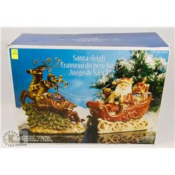 SANTA SLEIGH 2PC DECORATIVE SET