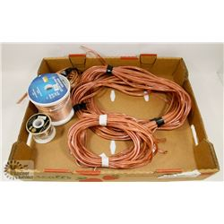 FLAT OF ASSORTED SPEAKER WIRE