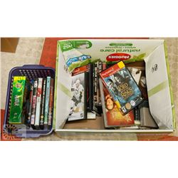 BOX OF ASSORTED DVD'S , VIDEO GAMES INCLUDING