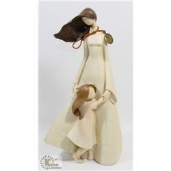 """12"""" TALL MOTHER & DAUGHTER FIGURE / STATUE"""