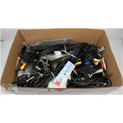 BOX OF ASSORTED CABLES