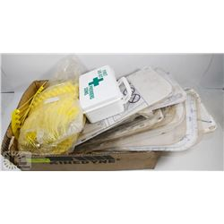 BOX OF SAFETY SHIELDS/TAGS