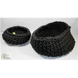 PAIR OF NEO DESIGN DECORATIVE STORAGE BASKETS,