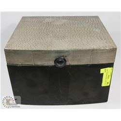 WOOD KEEPSAKE BOX, 12 X 11 X 8