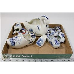 BOX OF DELFT ITEMS
