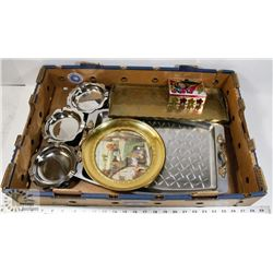 LARGE BOX OF METAL WARES