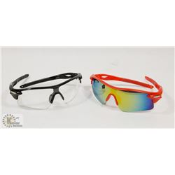 LOT OF TWO NEW SPORTS SUNGLASSES