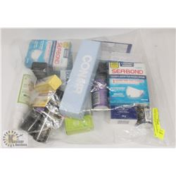 LARGE BAG OF ASSORTED DRUG STORE, AVON ETC