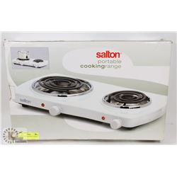 NEW SALTON PORTABLE COOKING RANGE