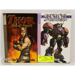 TWO MARVEL COMICS SOFT COVER GRAPHIC NOVELS, #1